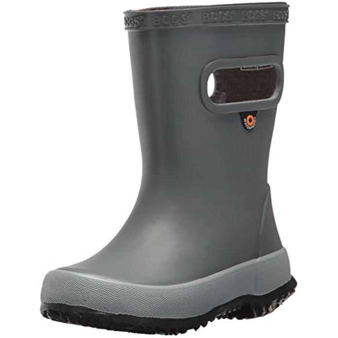 Bogs Unisex-Child Skipper Waterproof Rubber Rain Boot for Boys and Girls