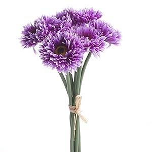 Factory Direct Craft 3 Purple Artificial Aster Mum Bundles- 18 Total Blooms 2