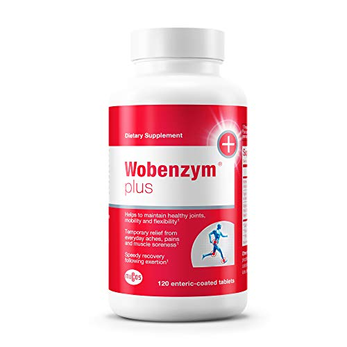 Wobenzym - Wobenzym Plus - Number One Joint Health Pill in Germany†*, Supports Joint Function, Muscles and Recovery After Exertion† - 120 Enteric-Coated Tablets (Wobenzym N 800 Best Price)