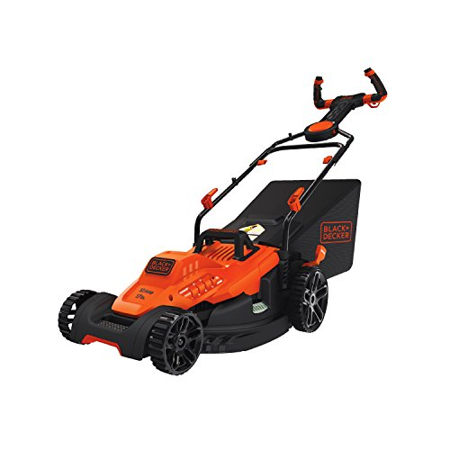 "BLACK+DECKER BEMW482ES Electric Mower 17"" Lawn Pivot Control"