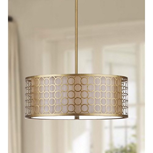 Safavieh Lighting Collection Giotta Antique Gold 45.25-inch Pendant ()