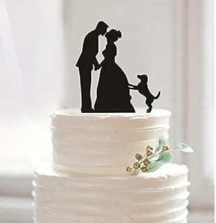 Amazoncom Buythrow Unique Wedding Cake Topper Bride and Groom