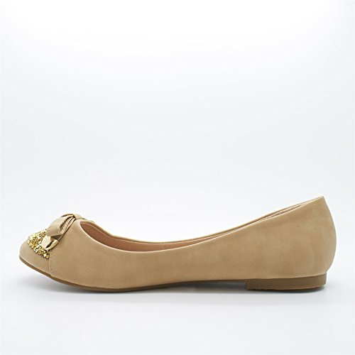 London Footwear ,  Damen Ballett Beige