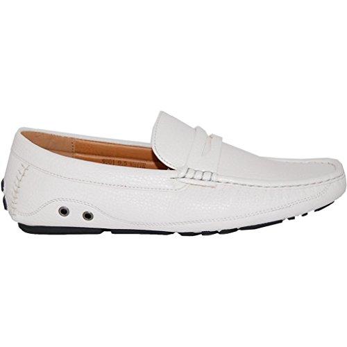 Schoen Kunstenaars Klassieke Witte Penny Loafer - Mannen