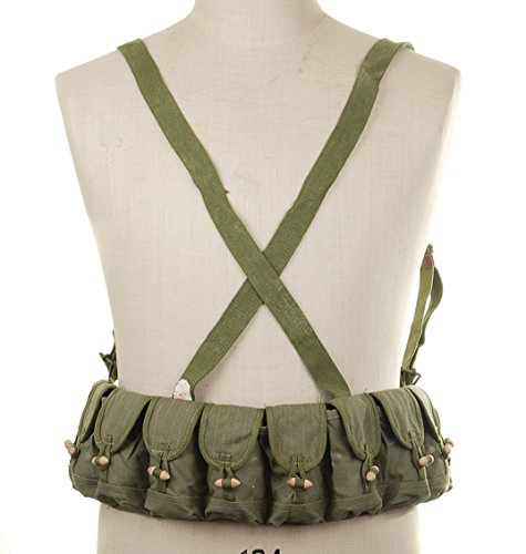 (Chinese Military Surplus SKS Type 56 Semi Chest 7.62 10 Pocket Chest Pouch Rig Bandoleer Bandolier for Cartridge Ammo Ammunition & Stripper Clips)
