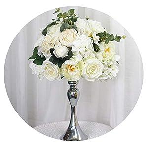 D-Star 35cm Silk Peonies Artificial Flower Ball centerpieces Arrangement Decor for Wedding Backdrop Table Flower Ball 13 Colors,014