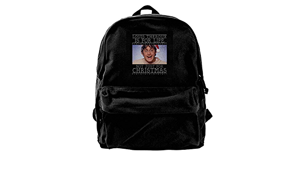 MIJUGGH Canvas Backpack Louis Theroux Rucksack Gym Hiking Laptop Shoulder Bag Daypack for Men Women