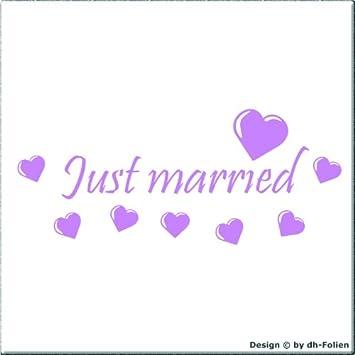 cartattoo4you AH-01506 | JUST MARRIED (No.1) | Autoaufkleber ...