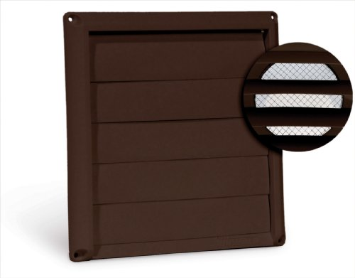 "Imperial 4"" Louvered Vent Cap with Metal Screen, Brown, GG-4B"