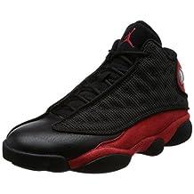 Jordan Men's Air 13 Retro, BLACK/TRUE RED-WHITE