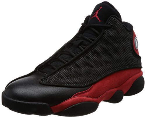 Jordan Air 13 Retro Mens Lifestyle Fashion Sneakers Black/True Red-White New 414571-004 - 9 by Jordan