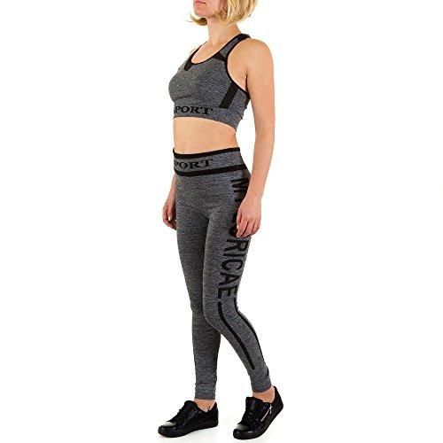 Yoga Zweiteler Anzug Für Damen , Schwarz In Gr. L/Xl bei Ital-Design