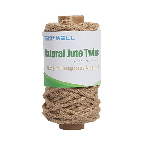 Packaging 4mm Thick 66 Feet Long Jute String Rope Roll for Garden Tenn Well Strong Natural Jute Twine Arts /& Crafts Home Decor