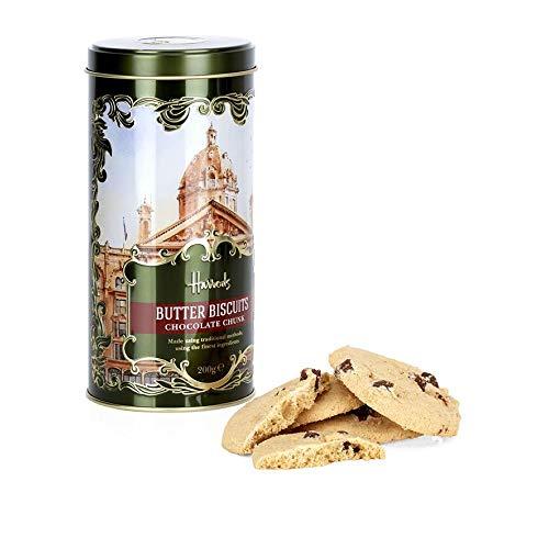 Harrods, Heritage Chocolate Chunk Biscuit Tin (200g)