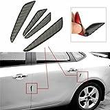 4PCS Car Door Edge Guards Black Real Carbon Fiber Car Side Door Edge Protection Guards Trims Stickers car door guard