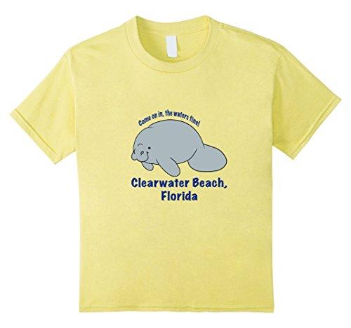 Kids manatee Clearwater Beach, Florida beach tee shirt 8 - With Clearwater Kids