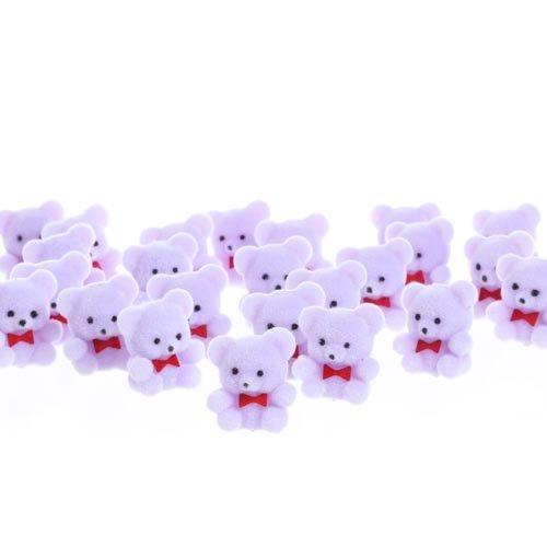 Mini Flocked Purple Teddy Bears