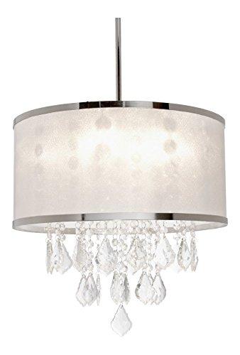 Saint Mossi Modern K9 Crystal Raindrop Chandelier Lighting Flush Mount LED Ceiling Light Fixture Pendant Lamp for Dining Room Bathroom Bedroom Livingroom 4 G9 LED Bulbs Required Height 14 x Width 16