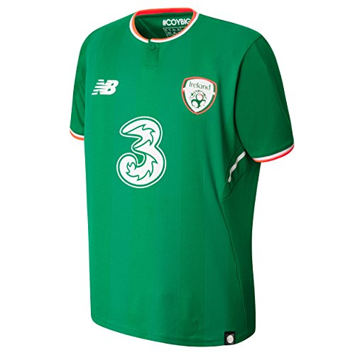(New Balance FAI Republic of Ireland 2017/18 Short Sleeve Home Jersey - Youth - Jolly Green - Youth Small)