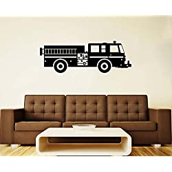 Fire Engine Wall Sticker Fire Car Vinyl Decal Nursery Wall Decal Nursery Decorations Wall Art Decor (2feee)