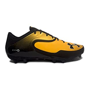 Under Armour Team Nitro Icon Low MC Men's Football Cleats (11, Black/Steeltown Gold)