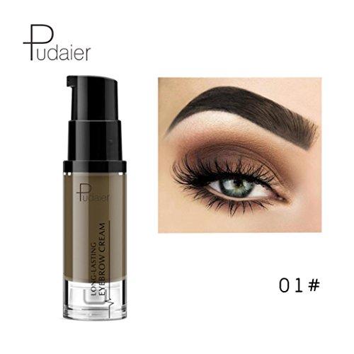 Oksale 6 Colors Makeup Tool Mascara Long Lasting Waterproof Brow Tinted Eyebrow Cream (01#)