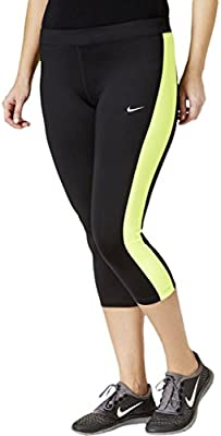 Amazon.com : NIKE Womens Plus Color Block Cropped Yoga ...