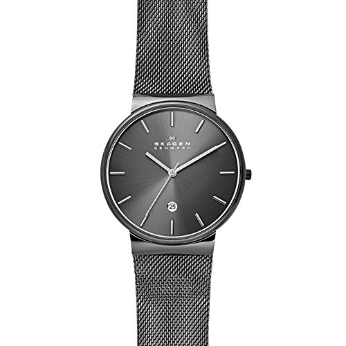 Skagen Men's Ancher Quartz Stainless Steel and Mesh Watch Color: Gray, (Model: SKW6108)