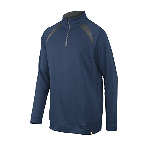 DeMarini Men's 1/2 Zip Heater Fleece Jacket, Navy, Large ()