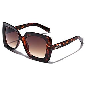 Giselle Square Frame Vintage Retro Womens Sunglasses