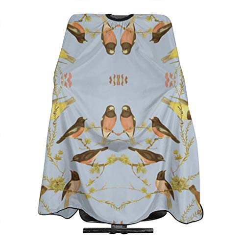 Birds of Australia Robins and Gerygones Versai Professional Barber Cape with Snap Closure, Hair Cutting Salon Cape Hairdressing Apron - 55