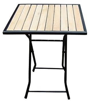Sehr Amazon.de: Biergarten-Tisch Gartentisch, Holz+Metall, quadratisch  HG88