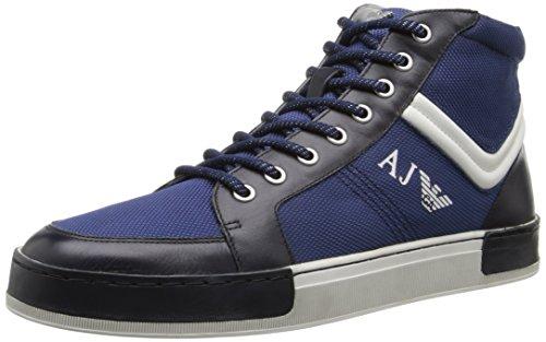 Armani Jeans Men's Hightop Fashion Sneaker, Blue, 40 EU/7 M US