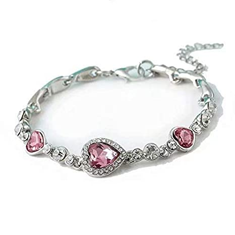 Liroyal Women Jewelry Exquisite Small Chain Bracelet Bangle Christmas Day Gifts