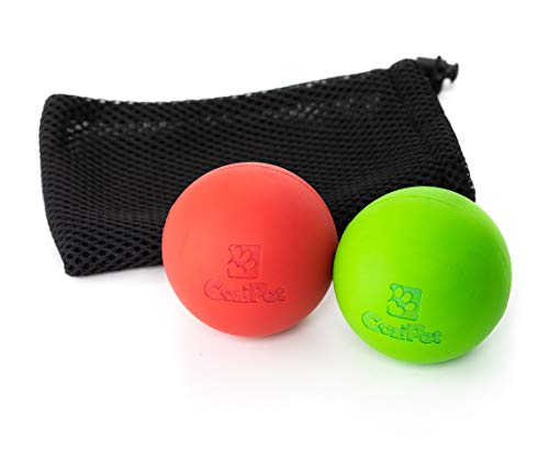 CoziPet Extremely Durable Natural Rubber Dog Ball Toys- 2 Pack