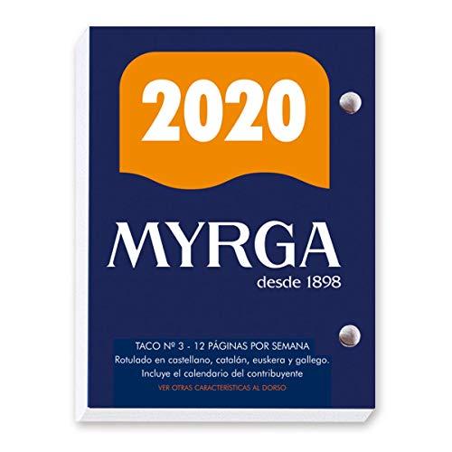 Taco calendario myrga sobremesa Nº 3 2020