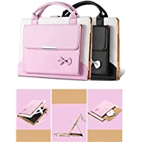IPad Pro 10.5 Inch 2017 Case - Albc Cute For Woman Handbag Premium Leather Slim Stand Cover with Auto Wake/Sleep Feature For Apple iPad Pro 10.5 Inch 2017 (pink)