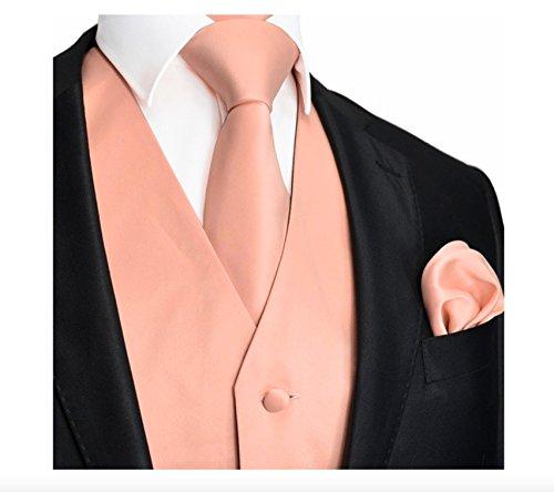 Brand Q 3pc Men's Vest Set-Peach L ()
