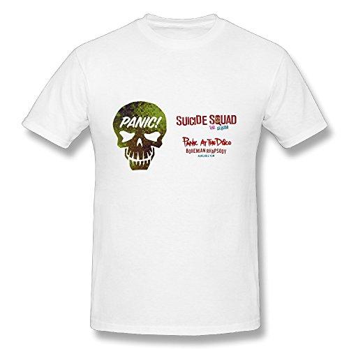 Suicide Squad Soundtrack Album Panic! At The Disco White Mens T Shirt (Panic At The Disco Pretty Odd T Shirt)