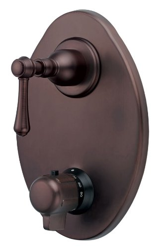 Danze D560157RB Opulence Two Handle 1/2-Inch Thermostatic Shower Valve with Trim, Oil Rubbed Bronze