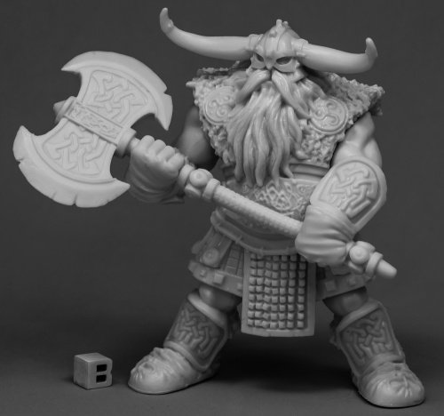 Reaper Miniatures Frost Giant Bodyguard 2H Axe 77544 Bones Unpainted RPG Figure ()