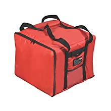 Rubbermaid Commercial Products PROSERVE Insulated Professional Delivery Bag, Pizza Catering Bag, Small, Red, FG9F3800RED