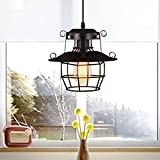 NANGE Modern Chandelier,Minimalist Creative Wrought Iron Pendant Lights,Bar Leisure Sound Industrial Wind Hanging Lamp,E27(Without Light Source) (Color : AC 110V)