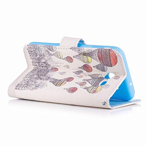 Yiizy Samsung Galaxy J3 Prime Custodia Cover, A Palloncino Città Design Sottile Flip Portafoglio PU Pelle Cuoio Copertura Shell Case Slot Schede Cavalletto Stile Libro Bumper Protettivo Borsa