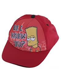 Childrens Boys Bart Simpson Baseball Cap