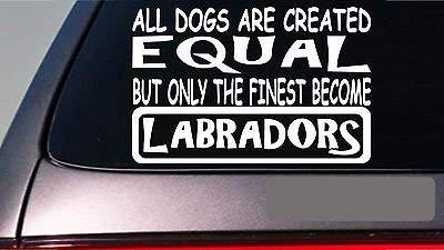 BrandVinyl Labradors All Dogs Equal 6' Sticker Black Lab Retrievers Decoy Ducks