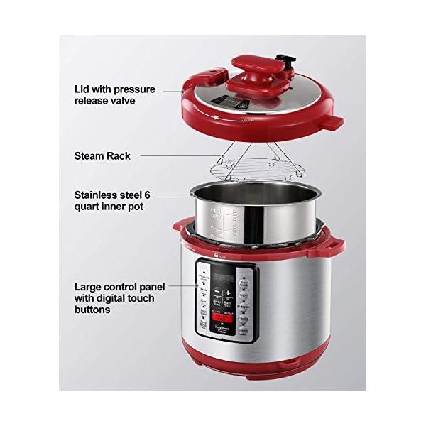 Electric Pressure Cooker ICOOKPOT 9-in-1 Multi- Use Programmable Smart Pressure Cooker, Slow Cooker, Yogurt Maker, Rice… 3