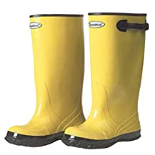 Liberty Glove & Safety DuraWear Rubber Fabric Lined Protective Slush Men's Boot with Top Strap and Buckle, 17-Inch Height, Size 17, Yellow