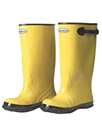 Liberty Glove & Safety DuraWear Rubber Fabric Lined Protective Slush Men's Boot with Top Strap and Buckle, 17-Inch Height, Size 07, Yellow