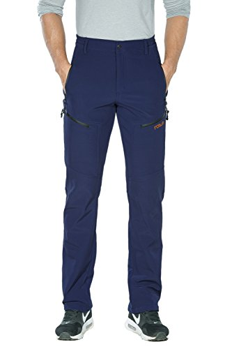 Nonwe Men's Warm Water-Resistant Snow Ski Sweat Pants Blue M